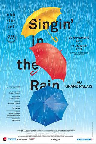 AFFICHE SINGIN IN THE RAIN GRAND PALAIS