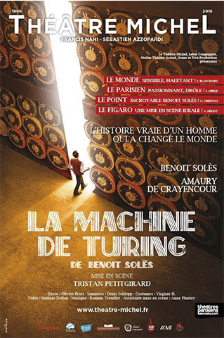 MACHINE DE TURING (LA) - AFFICHE - THEATRE MICHEL