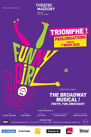 FUNNY-GIRL--AFFICHE-DU-THEATRE-MARIGNY-PROLONGATION-7-MARS-2020