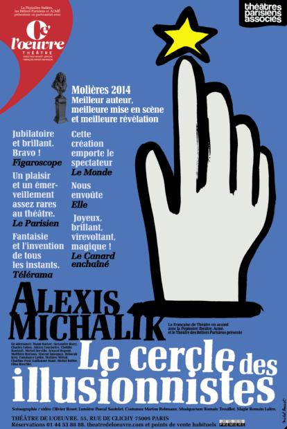 CERCLE DES ILLUSIONNISTES - AFFICHE - THEATRE DE L'OEUVRE