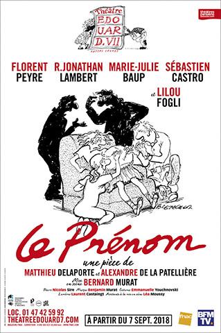 PRENOM (LE) - AFFICHE THEATRE EDOUARD VII - 2018